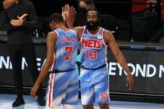 "Nashas ir Durantas žavėjosi Hardeno rekordiniu debiutu ""Nets"" gretose"