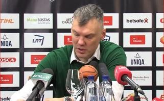"""Šaras: Adomaitis - vienas geriausių Europos trenerių; D.Adomaitis: """"Žalgiris"""" - visa galva aukštesnis"""