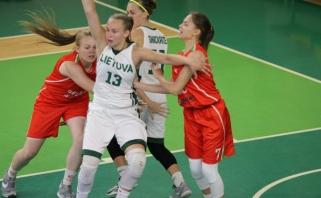 Europos čempionatui besiruošiančios lietuvės antrą kartą įveikė Baltarusijos rinktinę