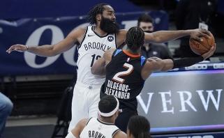 """Oklahomoje žibėjo """"Nets"""" žvaigždės, lyderius susigrąžinę """"Clippers"""" laimėjo Orlande"""