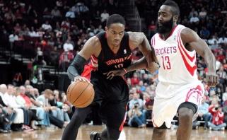 NBA savaitės naudingiausieji - D.DeRozanas ir J.Hardenas (trigubo dublio video)