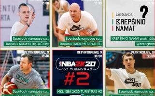 LKF siūlo treniruotes su rinktinių treneriais ir viktoriną su žinomais krepšininkais (tvarkaraštis)