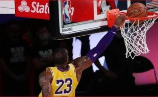 LeBrono dėjimas po Rondo perdavimo nuo lentos - gražiausias NBA nakties momentas