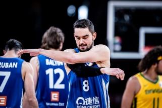 Čekai ir toliau stebina: sutriuškino Brazilijos krepšininkus