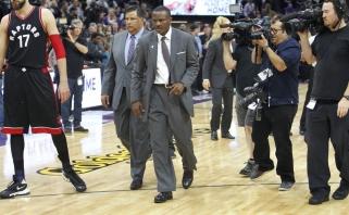 """Kontroversija: teisėjai įsiutino """"Raptors"""" trenerį - jaučiasi apvogtas"""
