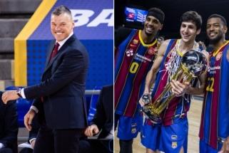"""Su """"Barca"""" pirmą titulą iškovojęs Šaras: mūsų laukia ilgas kelias, bet šiandien reikia švęsti"""