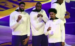 """NBA čempionų žiedus atsiėmę """"Lakers"""" sezono starte krito prieš """"Clippers"""""""