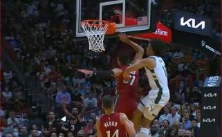 """Įspūdingas momentas iš """"Heat"""" - """"Bucks"""" mačo – gražiausias NBA nakties epizodas"""
