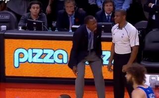 """Lemtinga teisėjo klaida kaip reikiant įsiutino """"Raptors"""" trenerį"""