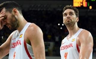 P.Gasolis atsisakė kalbėti, ispanai nerimsta - JAV gali laukti jau ketvirtfinalyje