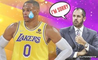 """""""Lakers"""" strategas prisiėmė kaltę dėl nevykusio Westbrooko debiuto: tai lengva ištaisyti"""