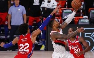 """""""Blazers"""" lyderis tapo 10-uoju žaidėju NBA istorijoje pelniusiu bent 50 taškų 10-yje mačų"""