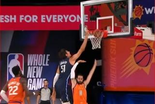Buvusio žalgiriečio bei J.Valančiūno bendraklubio dėjimai - gražiausi NBA nakties momentai