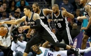 """""""Hornets"""" atsiliko 23 taškais, bet patiesė """"Spurs"""", kurie nepakartos """"Bulls"""" rekordo"""
