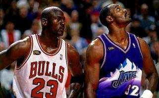 P.Pierce'as: Malone'as - geriausias iš tų žaidėjų, kuriems Jordanas sutrukdė tapti čempionu
