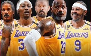 """""""Lakers"""" gretose žais 6 iš 12 vyriausių NBA lygos žaidėjų (Arizos komentaras)"""