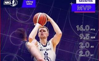 Vyriausias NKL žaidėjas V.Šarakauskas - savaitės MVP