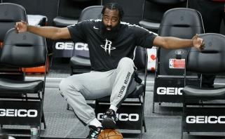 """NBA pradedama manyti, kad Hardenas liks """"Rockets"""" iki sezono pabaigos"""