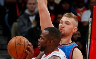 """D.Sabonis ir """"Thunder"""" padeda R.Westbrookui siekti NBA rekordų (lietuvis kukliai)"""