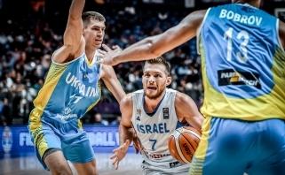 Ukrainiečiai sutriuškino žydus ir žengė į aštuntfinalį