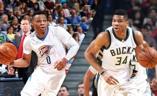 NBA savaitės geriausieji - graikas G.Antetokounmpo ir R.Westbrookas