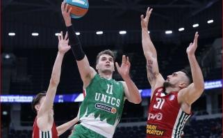 """Supertaurės mažajame finale """"Unics"""" įveikė neįtikėtinai daug klydusius """"Lokomotiv"""" krepšininkus"""