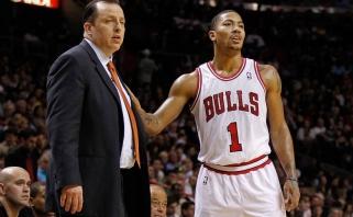 """T.Thibodeau apie 2011-12 metų sezoną: jei Rose'as nepatirtų traumos, """"Bulls"""" galėjo tapti čempionais"""
