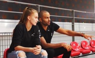 Į moterų krepšinį žengianti J.Jocytė - apie debiutą, T.Parkerio dėmesį ir kvietimą į Lietuvos rinktinę