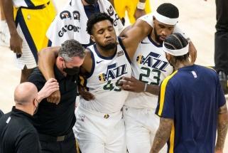 """Palengvėjimo atodūsis NBA lyderių stovykloje – """"Jazz"""" žvaigždės trauma nėra sunki"""