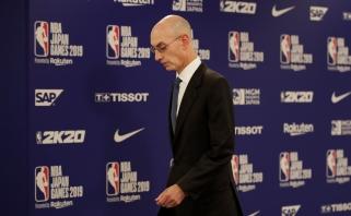 NBA vadovas: koronavirusu užsikrėtė daugiau žaidėjų nei buvo pranešta