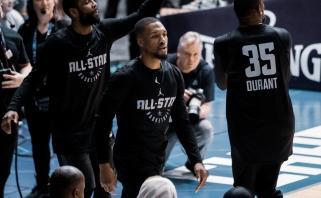 """NBA savaitės žaidėjai - """"Nets"""" ir """"Blazers"""" superžvaigždės"""