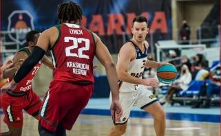 """17 taškų per kėlinį pelnęs Juškevičius atvedė į pergalę prieš lietuviškąjį """"Lokomotiv"""""""