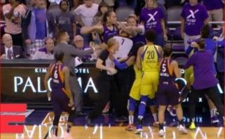 WNBA lygoje - muštynės: iš rungtynių išvarytos šešios krepšininkės