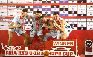 Lietuvos jauniai - Europos 3x3 krepšinio čempionai!