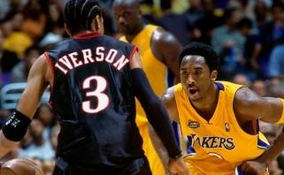A.Iversonas: negalėjau įsivaizduoti savęs vienoje komandoje su Shaqu ar Kobe