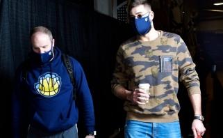 Geros žinios Memfyje: Valančiūnas – jau pasirengęs grįžti į NBA arenas
