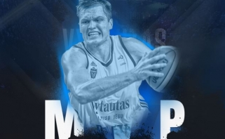 Įspūdingą efektyvumą rodęs V. Lipkevičius - kovo mėnesio MVP