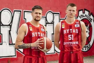 """""""Rytas"""" pristatė sirgalių išrinktas aprangas naujajam sezonui"""