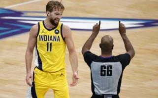 """Sabonis taikėsi į trigubą dublį, bet """"Pacers"""" klubui geriau sekėsi be jo"""