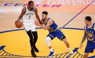 """Sugrįžęs Durantas vedė """"Nets"""" į pergalę prieš """"Warriors""""(rezultatai)"""