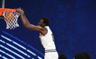 """NBA sugrįžo: """"Clippers"""" džiaugėsi pergale, """"Nuggets"""" – įspūdingu unikalaus milžino debiutu"""