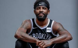 NBA įvertino Irvingo nenorą bendrauti u žiniasklaida: žvaigždei ir klubui skirtos solidžios baudos