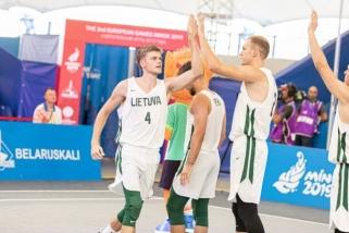 Lietuvos 3×3 krepšinio rinktinė startuos Europos čempionate Vengrijoje