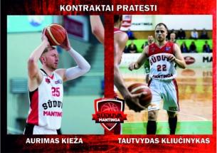 Marijampoliečiai A.Kieža ir T.Kliučnykas lieka gimtojo miesto klube