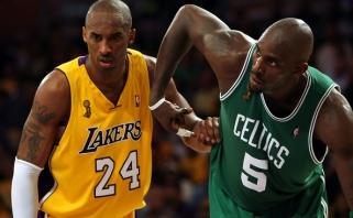 K.Garnettas: jei Kobe galėjo susižaisti su Shaqu, būtų galėjęs ir su manimi