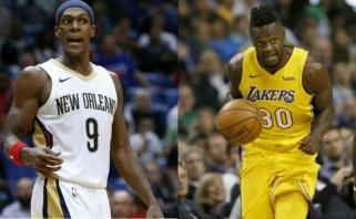 """Įsibėgėję """"Lakers"""" prisiviliojo Rondo, Randle'as keliasi į """"Pelicans"""""""