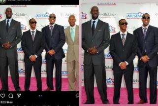 """K.Garnettas iškirpo R.Alleną iš buvusių """"Celtics"""" žvaigždžių nuotraukos"""