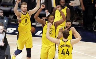 """Brestanti sensacija: Sabonis ir """"Pacers"""" antrą kartą įveikė """"Cavaliers"""""""