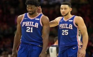 """NBA klubų vadovai įsitikinę, kad """"76ers"""" greičiau iškeis J.Embiidą nei B.Simmonsą"""
