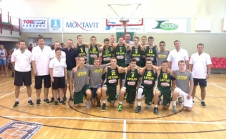 Baltijos taurės turnyre pergales iškovojo abi šešiolikmečių rinktinės